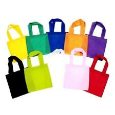 Lot of (3) 6x6 inches Non Woven mini Tote DIY Gifts Favor Party Bags OPTIONS