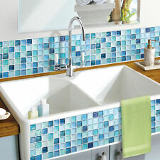 Home Décor WHOLESALE Anti Fungal Waterproof Bathroom Easy NEW Tile Sticker Blue