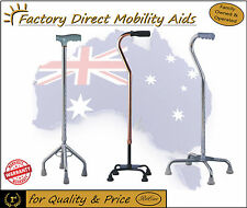 QUAD CANE Walking stick Silver Bronze Large Base Free Delivery in Australia