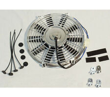 "Electric 10"" straight blade Chrome cooling radiator fan 12V 850cfm"