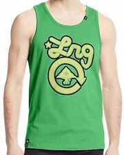 New LRG Men's Green Graphic Printed Core Collection One Tank Top Tee Shirt $26