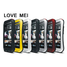 Aluminum Metal Waterproof Shockproof Gorilla Glass Case Cover For HTC One Max T6