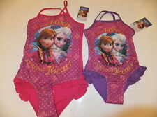 NEW OFFICIAL DISNEY FROZEN GIRLS FRILL DETAIL SWIMSUIT - AGE 3-8 YEARS