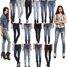 Anladia Womens Skinny Jeans Girls Ladies Slim Pencil Legging Denim Pants Trouser