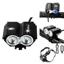 SolarStorm 2x CREE XML T6 LED 5000LM Front luz bicicleta Bicycle Light HeadLamp