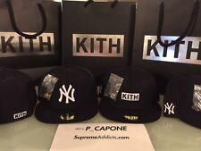 KITH [SIZE 7 1/8] YANKEES NEW YORK X NEW ERA FITTED CAP HAT 59FIFTY NAVY WHITE