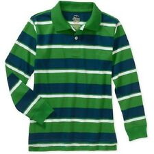 Boys Long Sleeve Shirt Faded Glory Casual Striped Polo Cotton Various Sizes NWT