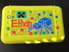 Minecraft Spider Custom Personalized Pencil Crayon Art Box Creeper Gift School