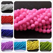 Czech Opaque Coated Glass Pearl Round Beads 16'' 4MM 6MM 8MM 10MM