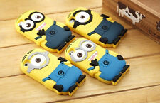 New DESPICABLE ME MINIONS YELLOW For iPhone 4 4S 5 5S 5C silicon Case Cover 3D
