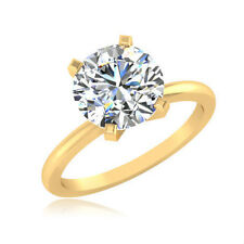 1.00 Ct Solitaire Ring Diamond Ring 14K Hallmark Gold Ring Diamond Ring