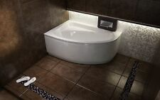 Offset Corner Bath *CORNEA* SPACE SAVER 1400 x 800mm with Front Panel and Legs