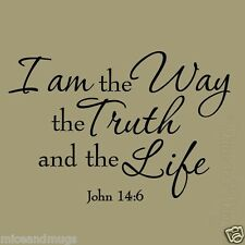 I am the Way the Truth and the Life John 14:6 Bible Jesus Quote Scripture Decal