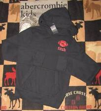 NWT ABERCROMBIE KIDS - BOYS - PULLOVER - FOOTBALL HOODIE - SIZE M OR L