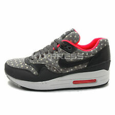 Nike Air Max 1 LTR Premium [705282-002] NSW Running Dots Grey/Black-Infrared