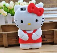 Red Cute 3D Cartoon Hello Kitty Soft Silicone Case Cover Skin For Mobile Phone