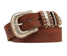 Nocona Western Womens Belt Leather Multi Keeper Brown N3493702