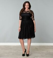LUNA LACE DRESS BY KIYONNA Lane Bryant BLACK 1X 14/16 2X 18/20 3X 22/24 4X 26/28