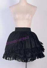 Lolita Partywear Black Lace Mini Skirt S-6XL Free Shipping Outfit Hot CM 2779