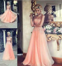 2015 New Beading Sweetheart A-Line Lace/Tulle Prom Dress Evening Party Ball Gown