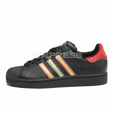 Adidas Superstar II [G16311] Original Casual Black/Blue-Red