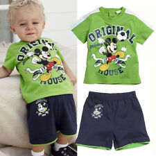 Mickey Mouse Kids Outfit Baby Boy T-Shirt Short Pants Children Clothes sets 1-5T