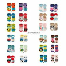 New Newborn Baby Girls Boys Terry Socks with Plush Rattle age 0-12 months CUTE !