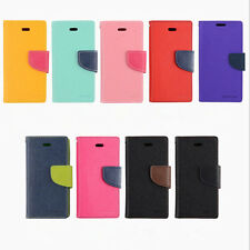 5 Colors New Leather Wallet Case Cover For Samsung Galaxy S4 iPhone 5 6 6Plus
