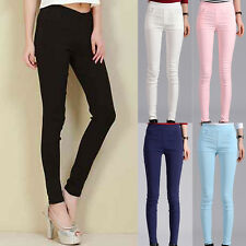 Candy Women Slim Pencil Pants Casual Skinny Stretch Leggings Trousers New