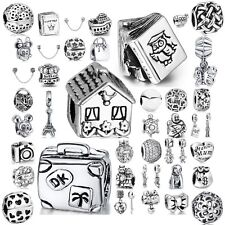 Cute Hollow Beads Fit European Charms 925 Sterling Silver Bracelets Chains New