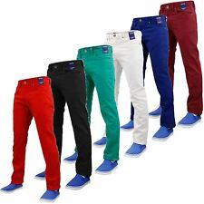 NEW MENS STRETCH JEANS SLIM FIT TWILL STRAIGHT LEG TROUSER CHINO PANTS SZ: 30-40