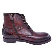 DOLCE & GABBANA Stable Siracusa Boots Shoes Cognac Brown 03825
