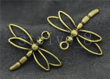 5/20/100pcs Antique Bronze Lovely Dragonfly Alloy Jewelry Charms Pendant 31x26mm