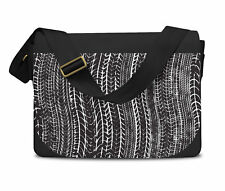 Tire Marks Car Bike Trucker Messenger Bag - Laptop School Shoulder Bag
