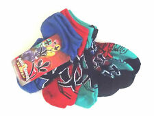 Power Ranger and Spider-Man Toddler Boys 5 Pack Socks Sizes 5-6.5 and 6-8.5 NWT