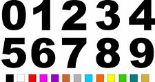 1x Set of Numbers 0 to 9 (3 inches tall) Vinyl Bumper Stickers Decals #a984