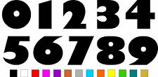 1x Set of Numbers 0 to 9 (4 inches tall) Vinyl Bumper Stickers Decals #a992