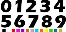 1x Set of Numbers 0 to 9 (4 inches tall) Vinyl Bumper Stickers Decals #a991