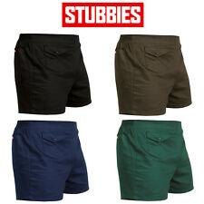 Mens Stubbies Original Basic Short Shorts Elastic Cotton Drill Summer SE2010