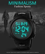 Military Digital Men Sport Watches LCD Date Rubber Army Alarm Quartz Wrist Watch