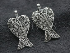 8/30/150pcs Tibetan Silver exquisite wings Jewelry Charms Pendant DIY 30x16mm