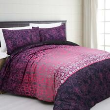 GALY Purple Pink Grey AUBERGINE Poly SINGLE*DOUBLE Doona Quilt Duvet Cover Set