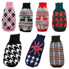 Small Pet Dog Puppy Cat Warm Sweater Clothes Knit Coat Winter Apparel Costumes