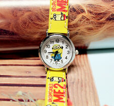 Despicable Me Minions Cartoon Kid Child Wrist Watch Analog Quartz Birthday Gift