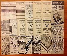 Hull Rugby League Programmes 1962  - 1989