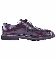 DOLCE & GABBANA Light Budapester Calf Leather Shoes Bordeaux Red 03942