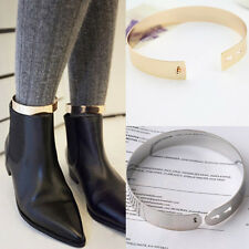 Vtg Womens Band Plated Clasp Mirror Chunky Cuff Bracelet Bangle Anklets SINGLE C