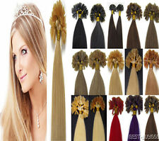 Pre Bonded Nail Tip U Tip Gule Remy Human Hair Extensions Double Drawn 1g 100S