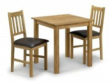 Julian Bowen Coxmoor Square Dining Table + 2 Chairs - Solid Oak Oiled Finish
