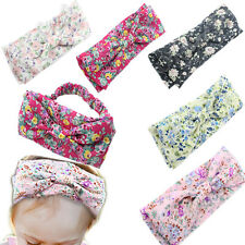 Baby Kids Girl Vintage Knot Hairband Floral Turban Bow Headband Head wrap Newest